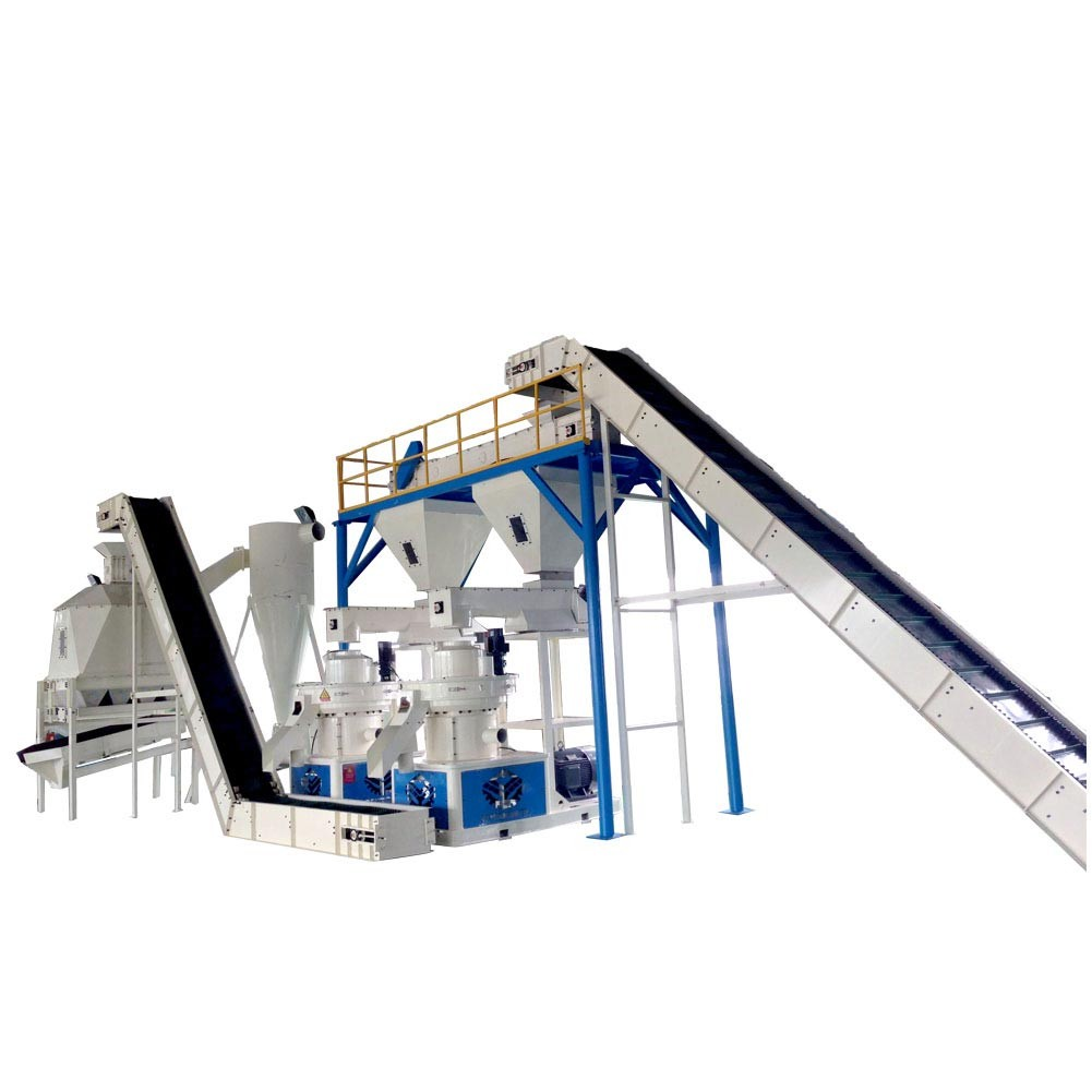 Biomass wood pellet production line