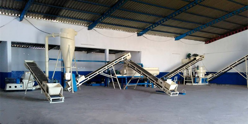 1-1.5 T/H wood pellet production line in Tunisia