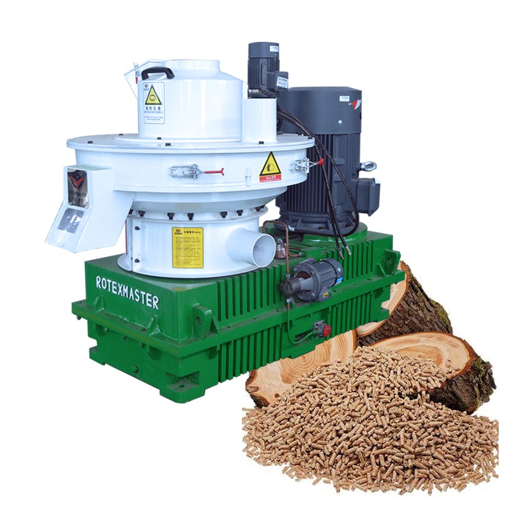 New design automatic lubrication 1.5 t/h pellet mill wood pellet machine